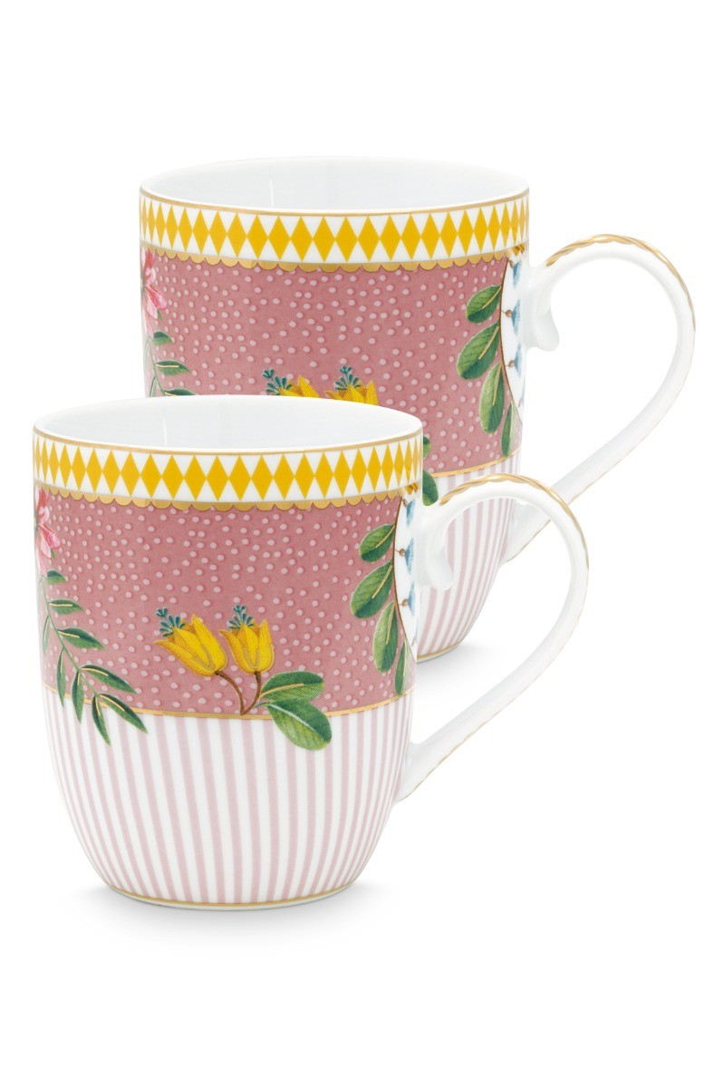 Color Relation Product La Majorelle Set of 2 Mugs Small Pink