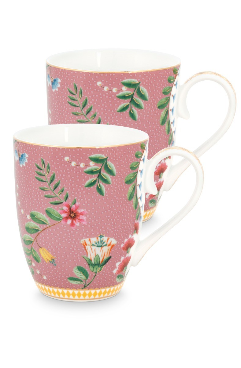 Color Relation Product La Majorelle Set of 2 Mugs Large Pink