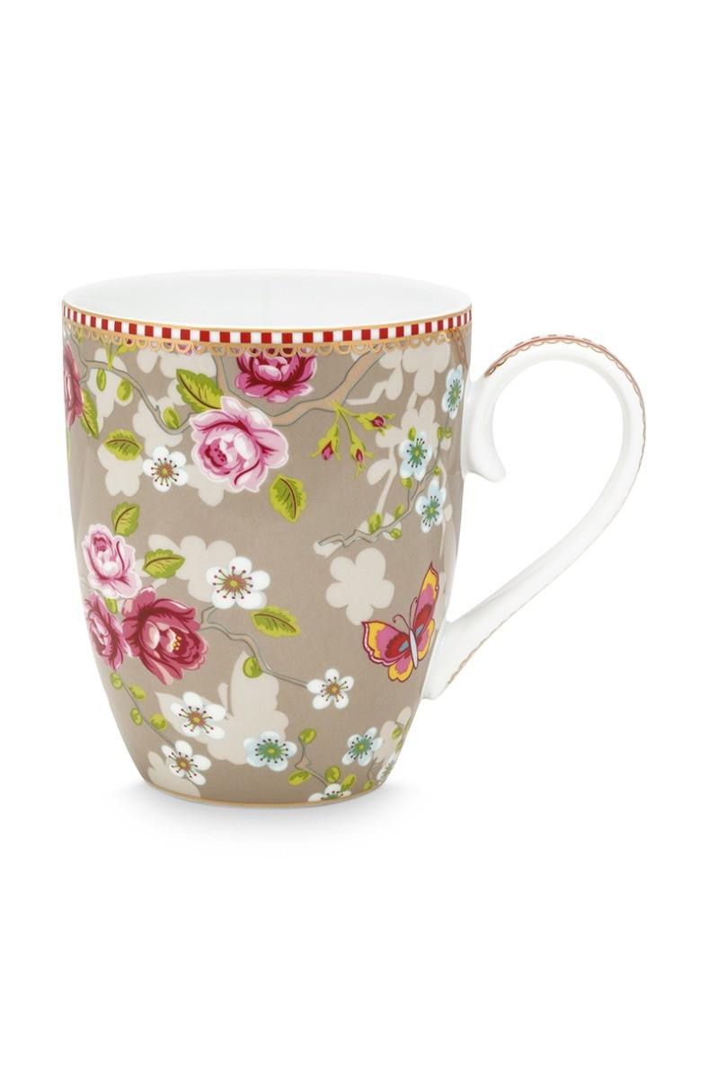 Color Relation Product Early Bird Mug large Chinese Rose Khaki