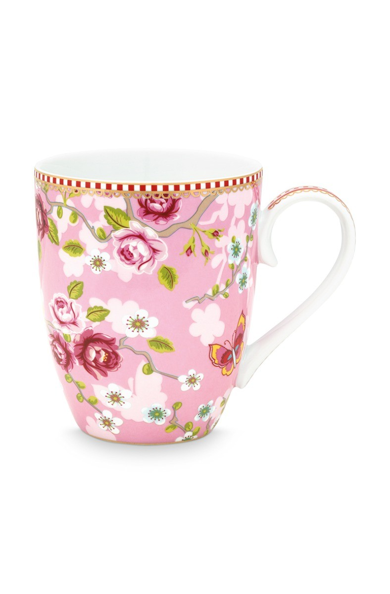 Color Relation Product Early Bird Mug large Chinese Rose Pink