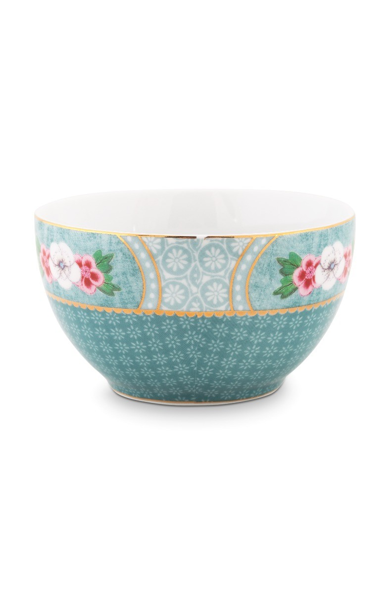 Color Relation Product Blushing Birds Star Flower Bowl blue 9.5 cm