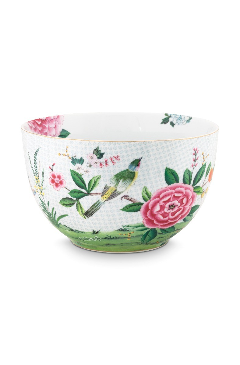 Color Relation Product Blushing Birds Bowl large white 23 cm