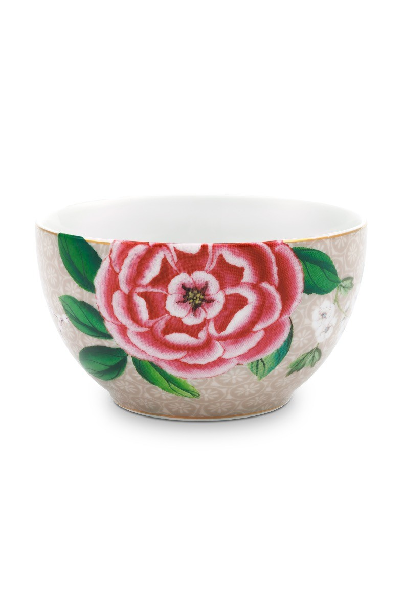 Color Relation Product Blushing Birds Bowl Small Khaki 9.5 cm
