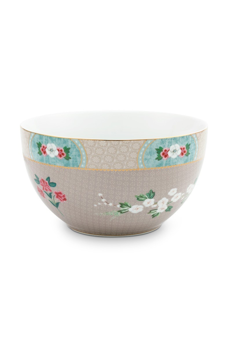 Color Relation Product Blushing Birds Bowl Khaki 18 cm