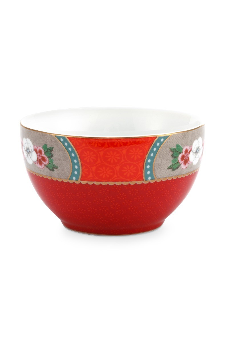 Color Relation Product Blushing Birds Star Flower Bowl Small Red 9.5 cm