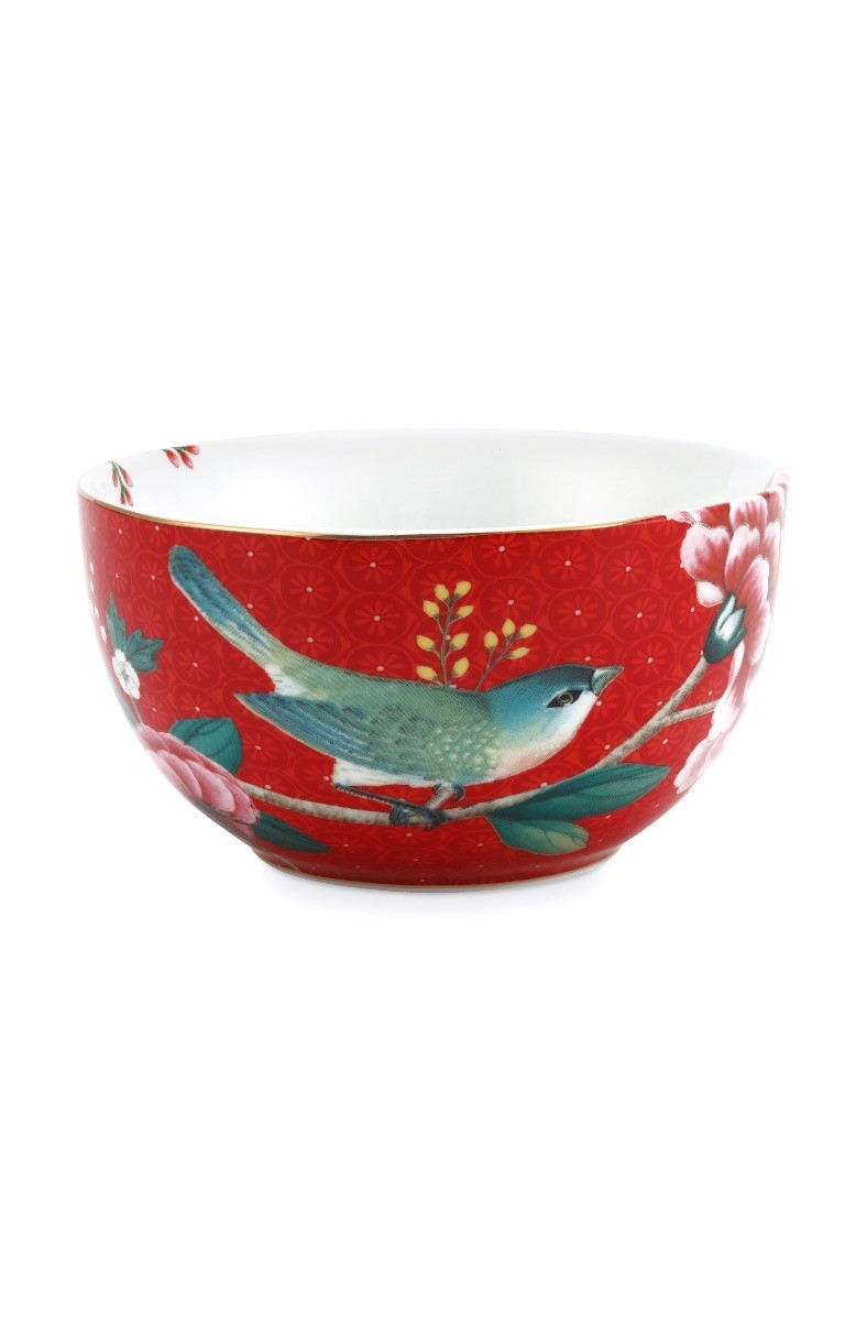 Color Relation Product Blushing Birds Bowl Red 12 cm