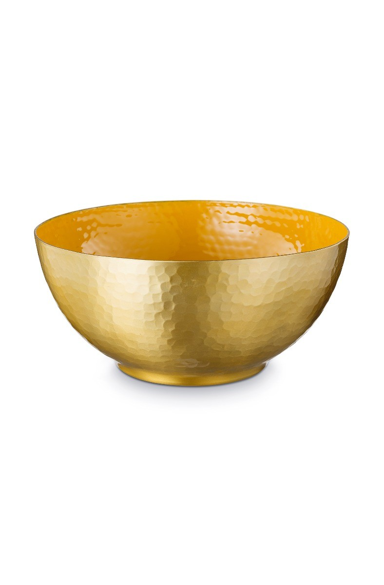 Color Relation Product Blushing Birds Enamelled Bowl Yellow 27 cm