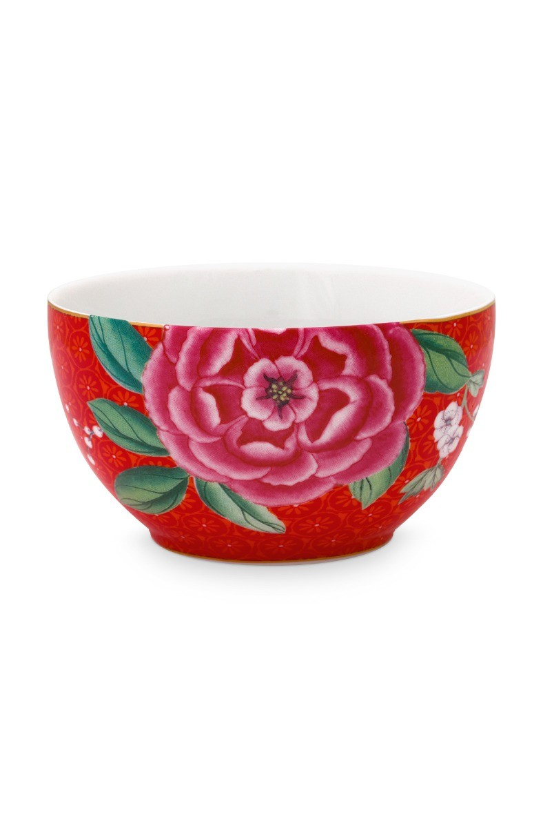Color Relation Product Blushing Birds Bowl Small Red 9.5 cm