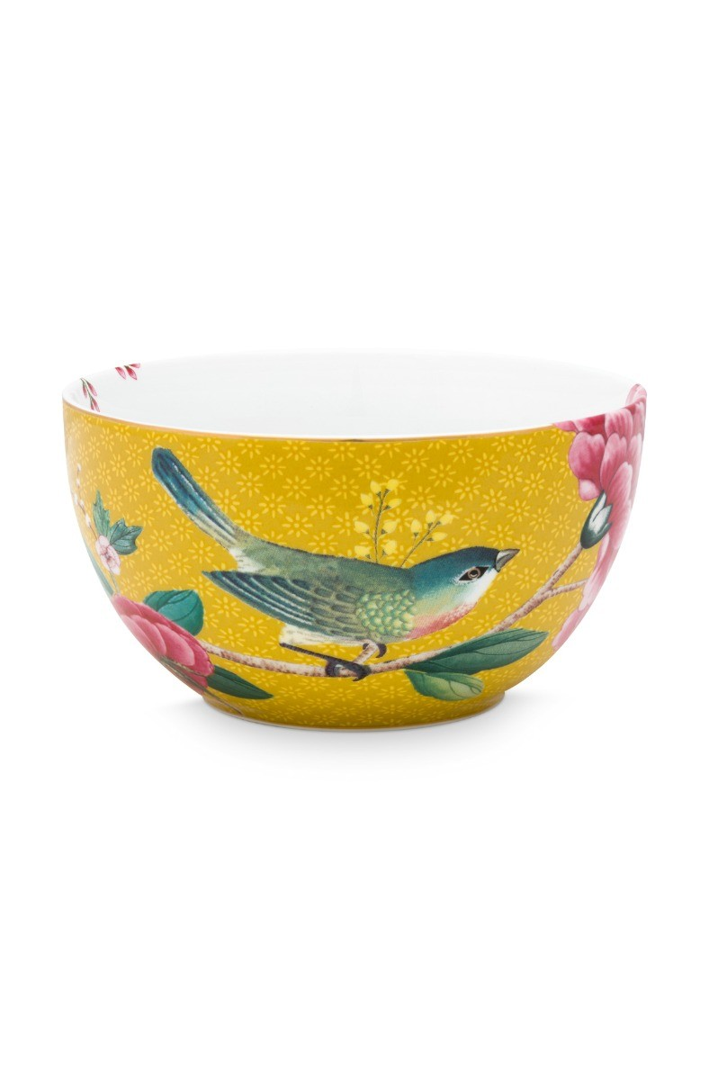 Color Relation Product Blushing Birds Bowl Yellow 12 cm