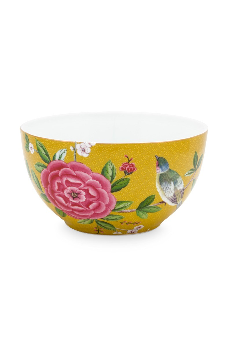 Color Relation Product Blushing Birds Bowl Yellow 15 cm