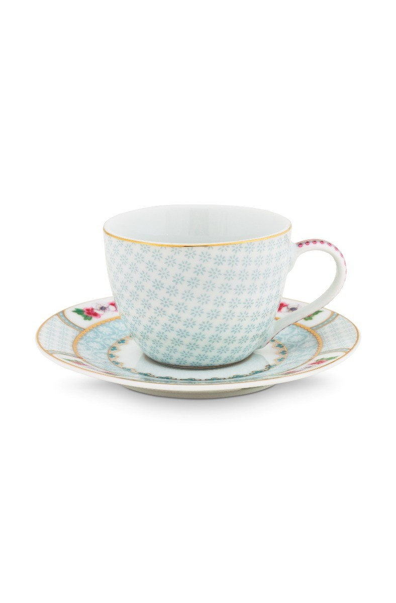Color Relation Product Blushing Birds Espresso Cup & Saucer white