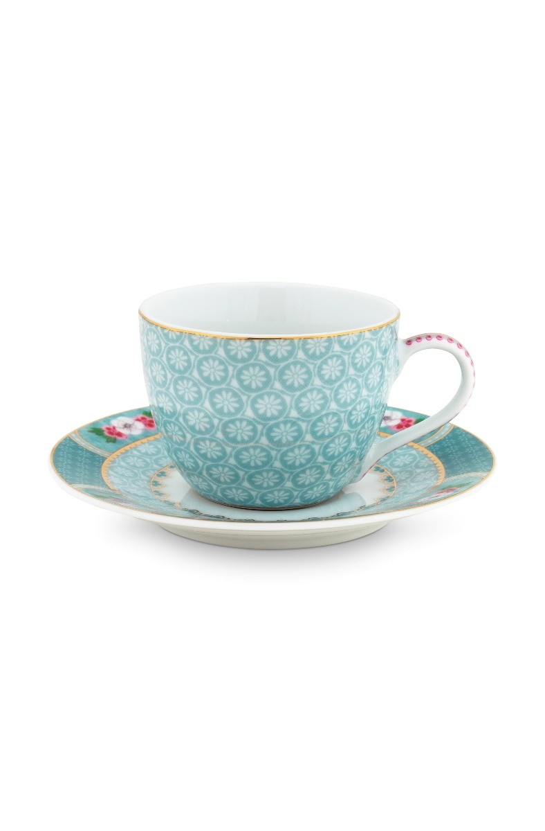 Color Relation Product Blushing Birds Espresso Cup & Saucer blue
