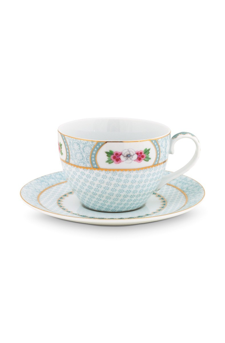 Color Relation Product Blushing Birds Cappuccino Cup & Saucer white