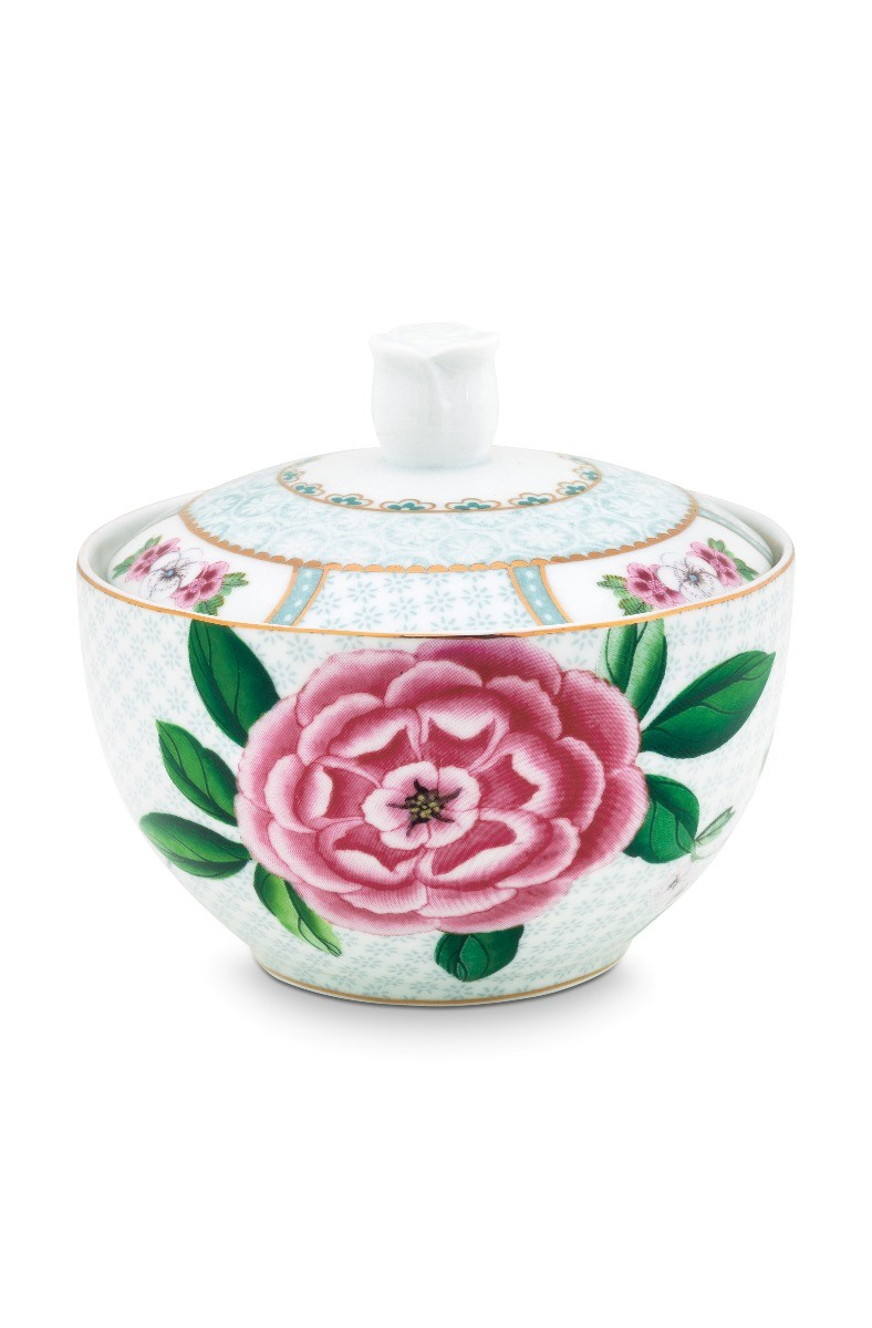 Color Relation Product Blushing Birds Sugar Bowl white