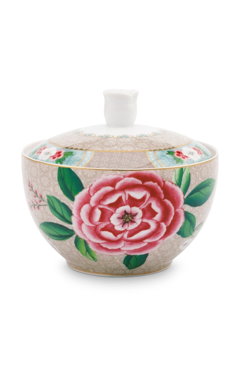 Color Relation Product Blushing Birds Sugar Bowl Khaki