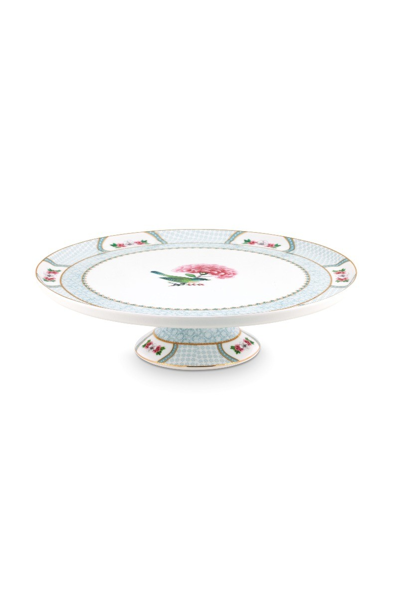 Color Relation Product Blushing Birds Round Cake Platter white
