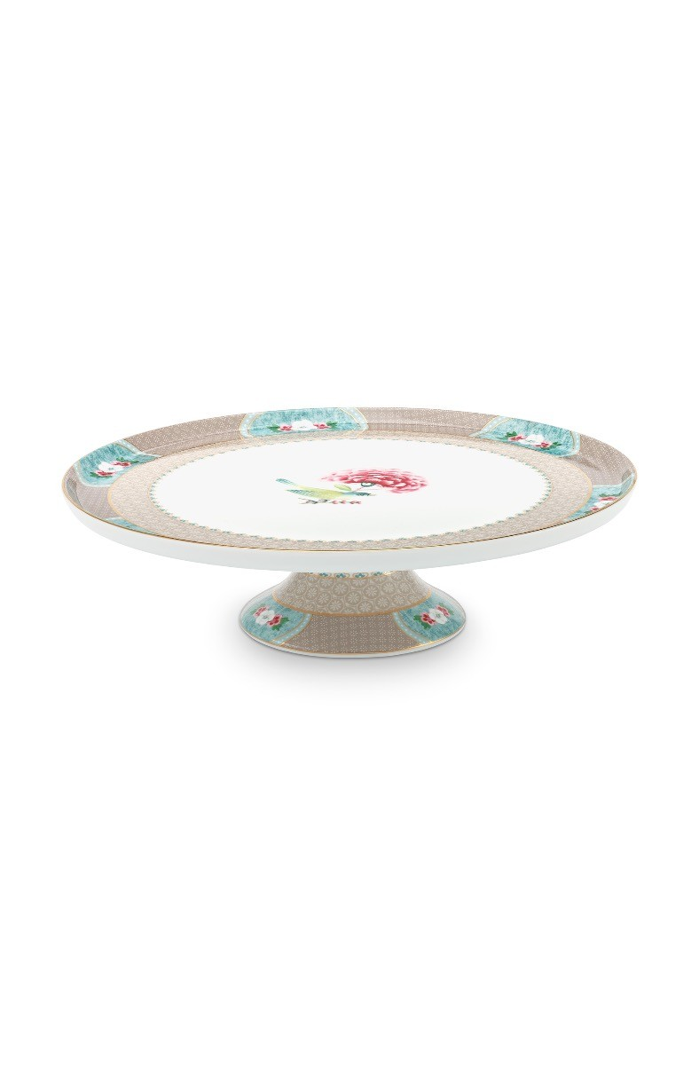 Color Relation Product Blushing Birds Round Cake Platter Khaki