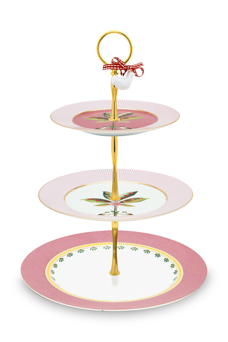 Color Relation Product La Majorelle Cake Stand 3 Levels Pink