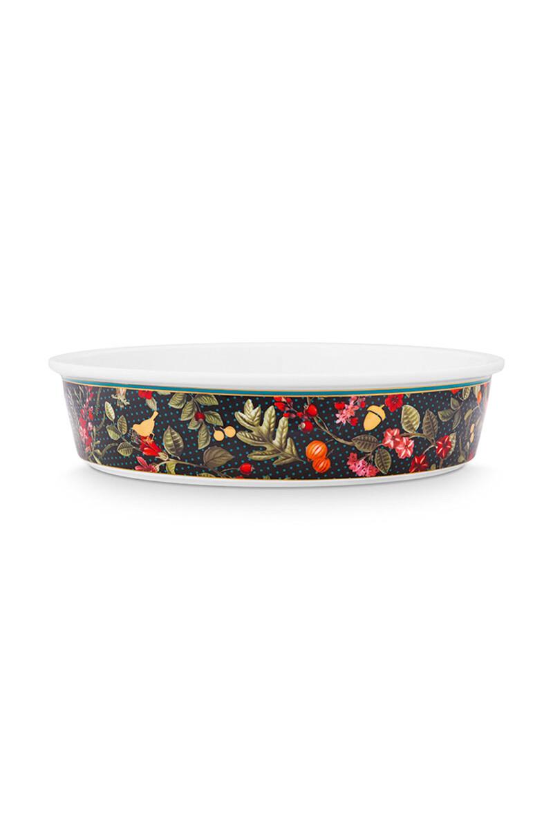 Color Relation Product Winter Wonderland Baking Dish Dark Blue