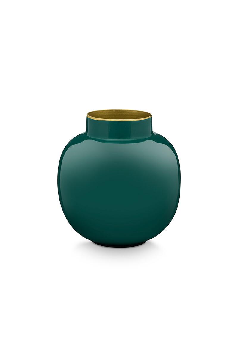 Color Relation Product Round Mini Vase Dark Green 10 cm