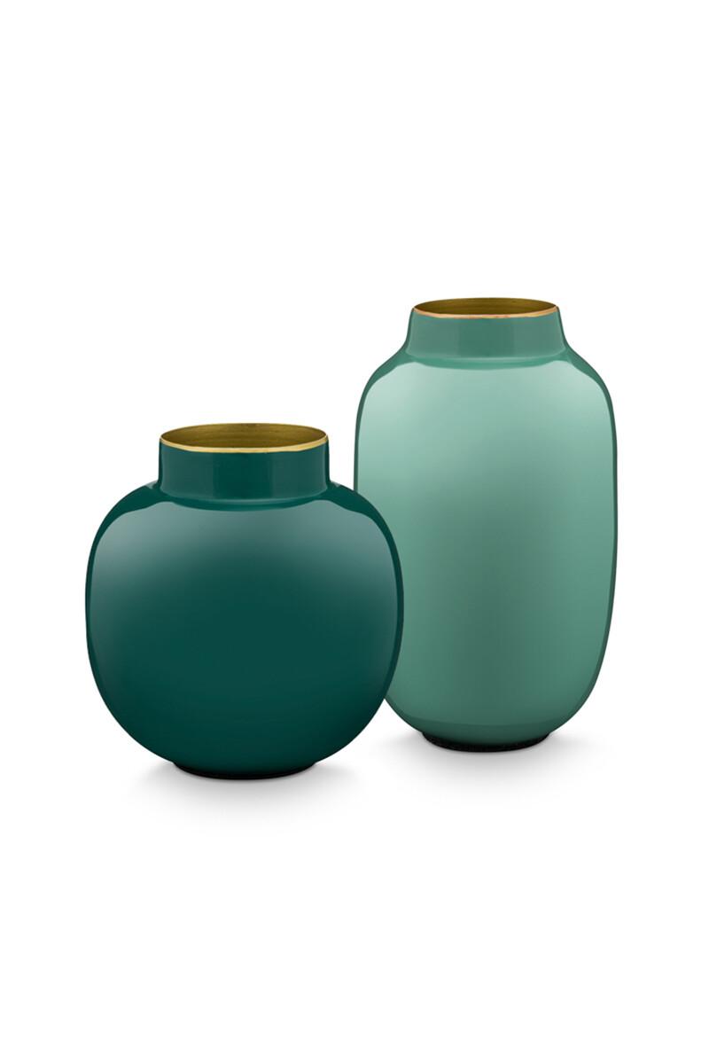 Color Relation Product Set Mini Vazen Blauw & Donkergroen