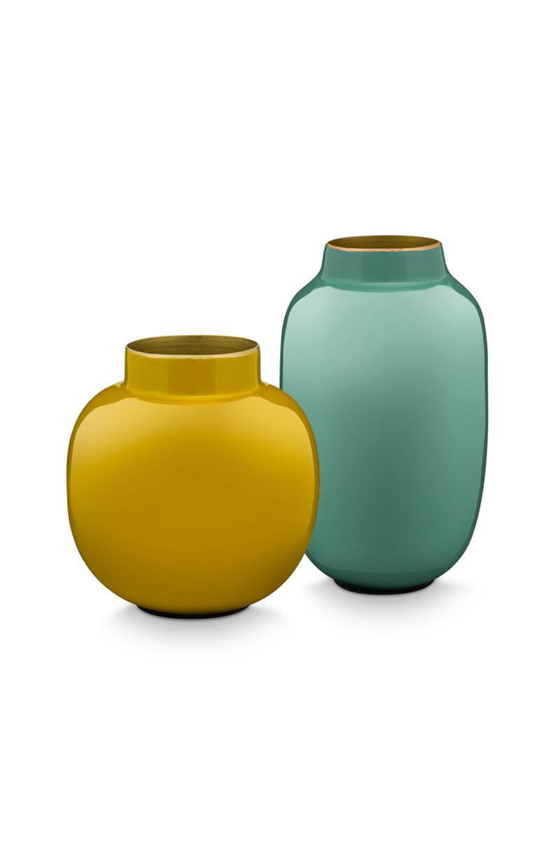 Color Relation Product Set Mini Vazen Blauw & Geel