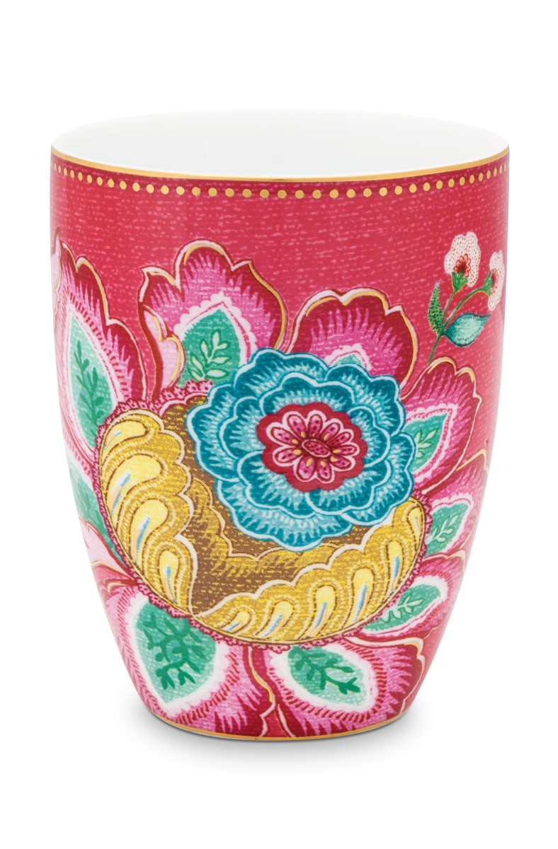 Color Relation Product Drinking Cup Jambo Flower Pink