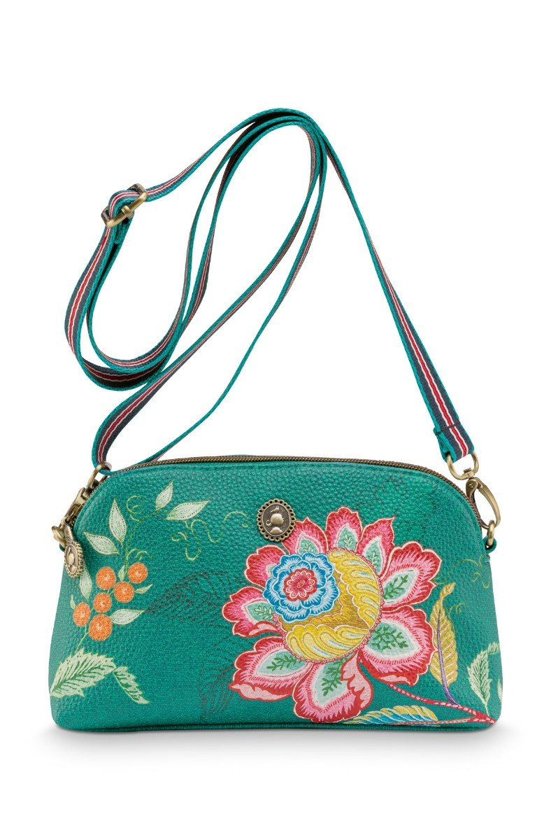 Color Relation Product Cross Body Small Jambo Flower Green