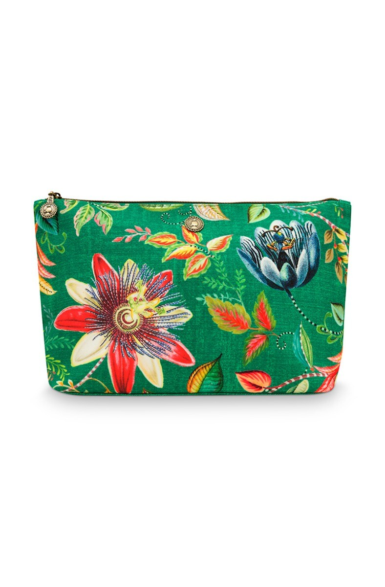 Color Relation Product Beach Bag Pouch Large Exotic Garden