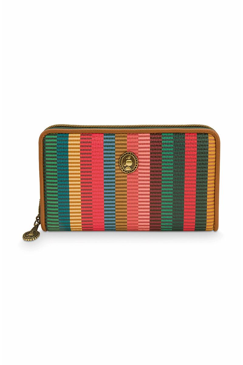 Color Relation Product Wallet Jacquard Stripe Multi