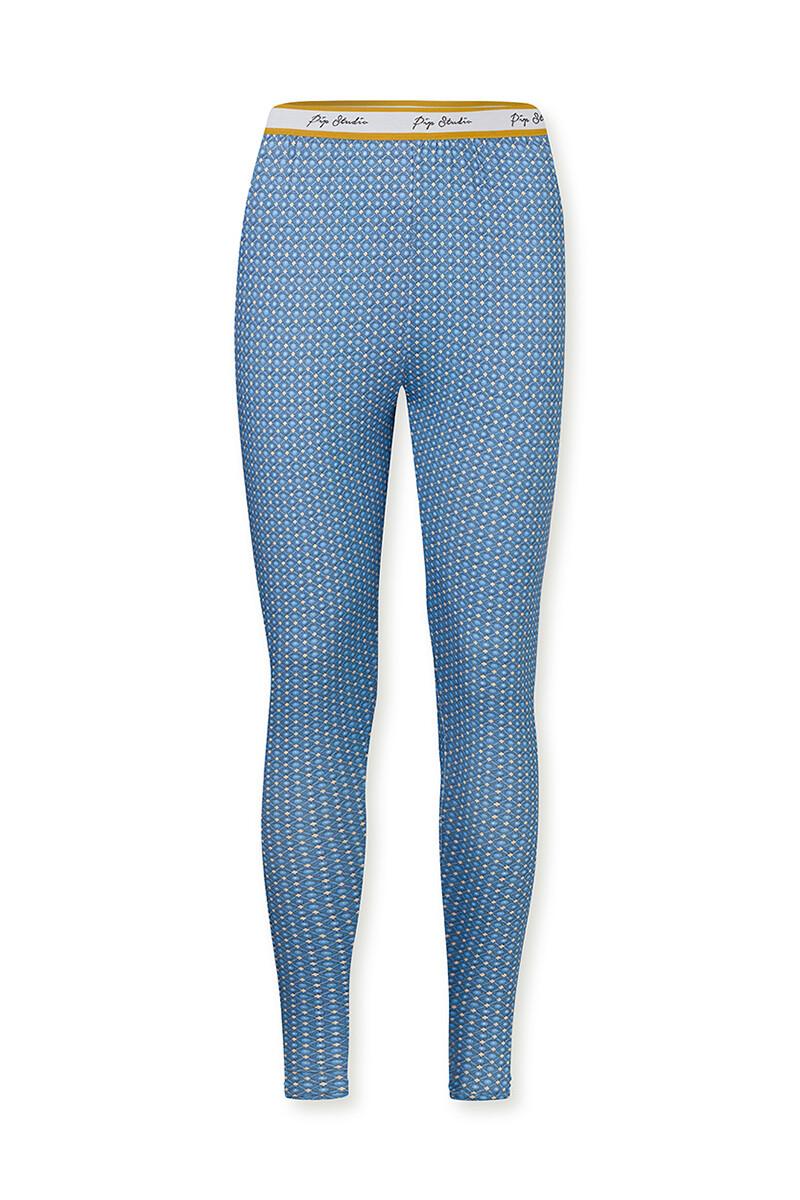 Color Relation Product Lange Legging Star Tile Blauw