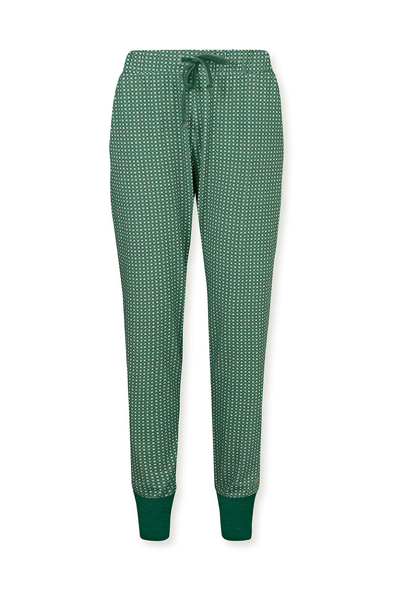Color Relation Product Trousers Long Star Tile Green