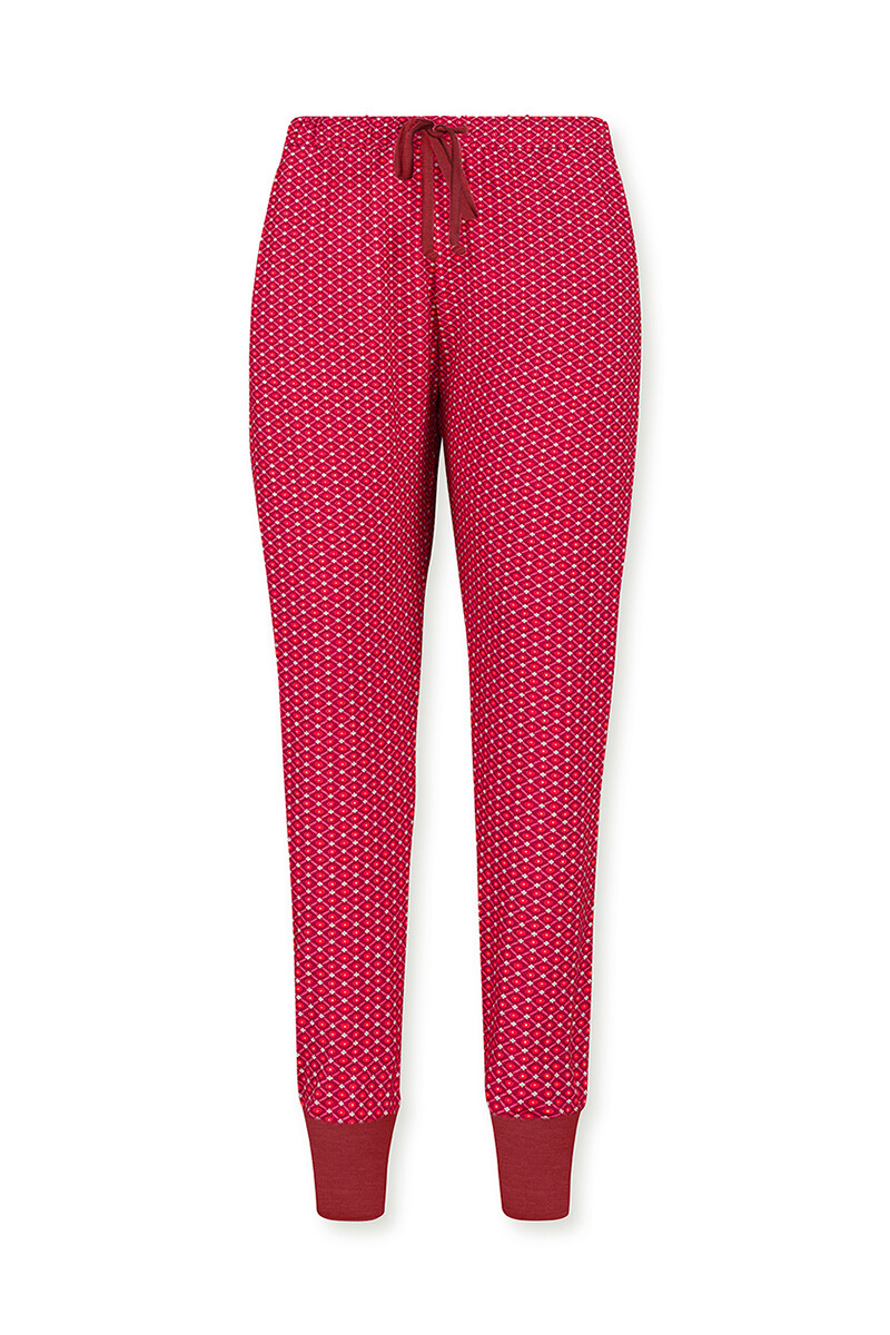 Color Relation Product Trousers Long Star Tile Red