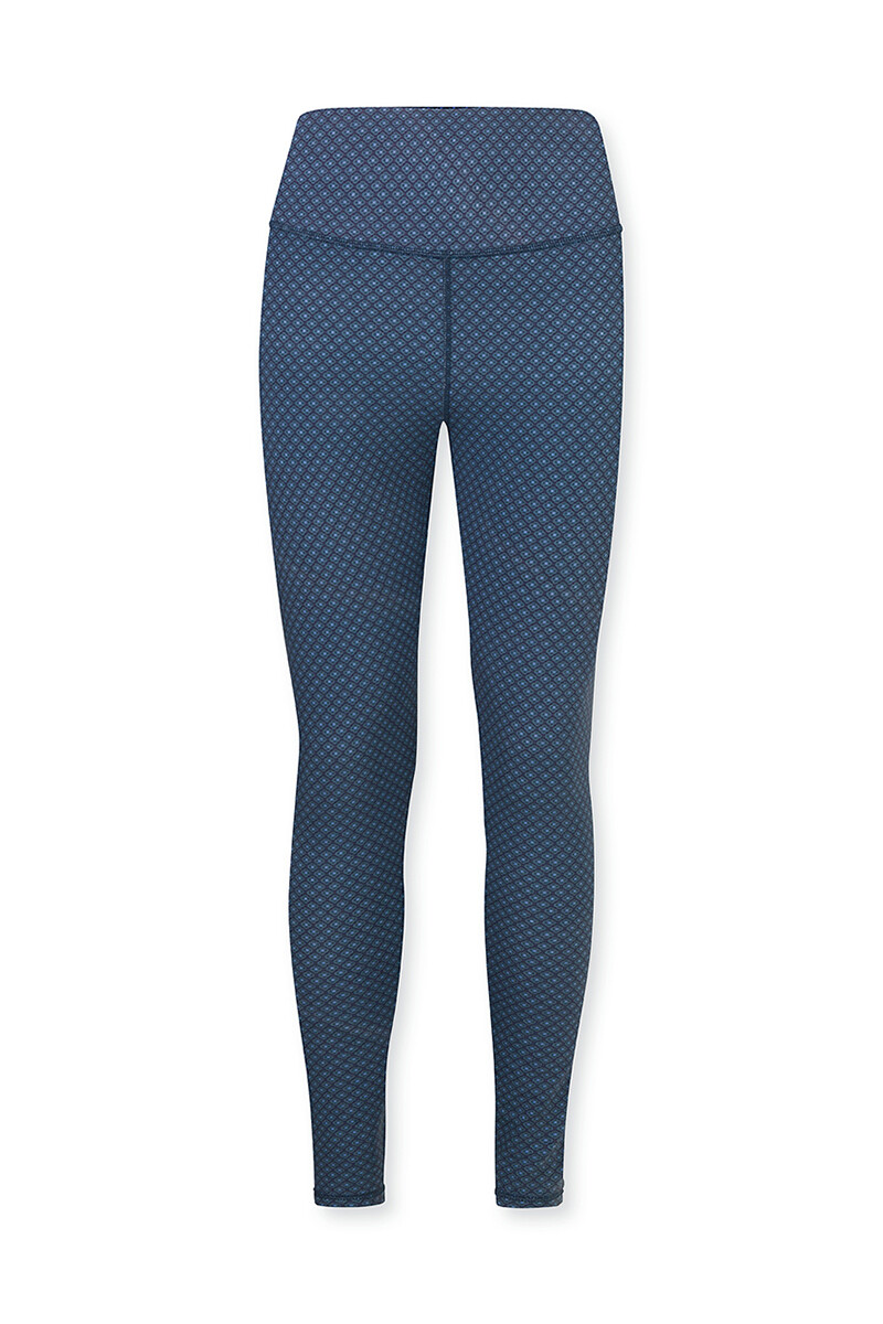 Color Relation Product Sports Leggings Long Lace Flower Blue
