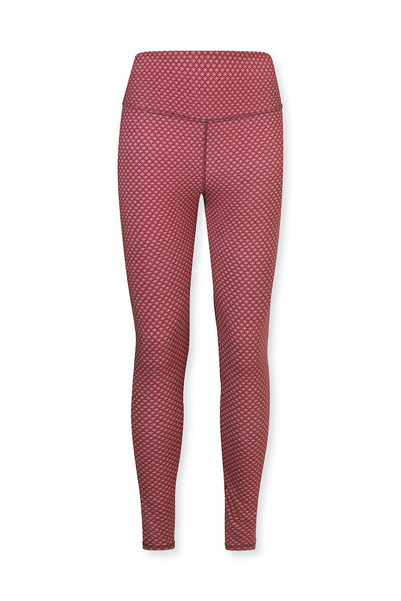 Color Relation Product Sports Leggings Long Lace Flower Red