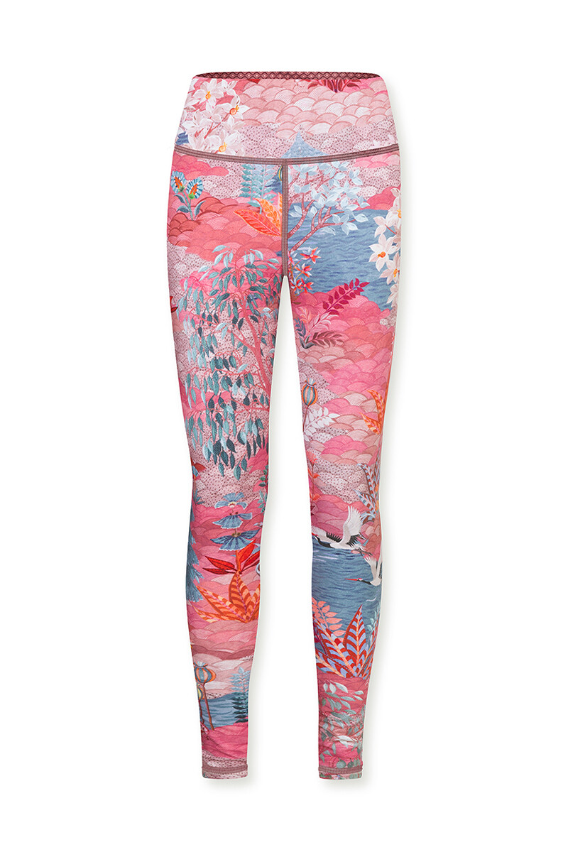 Color Relation Product Sports Leggings Long Pip Garden Big Pink