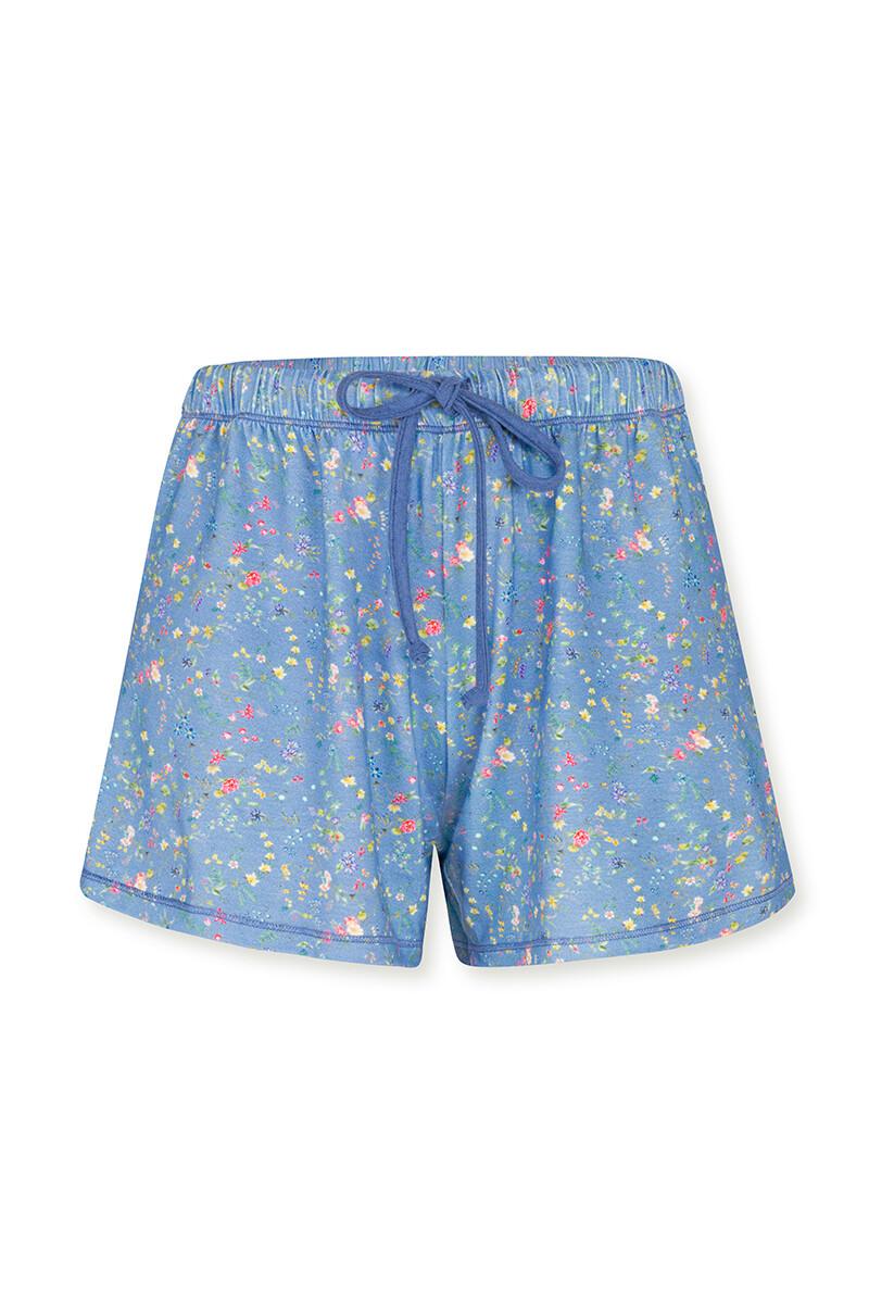 Color Relation Product Trousers Short Petites Fleurs Light Blue