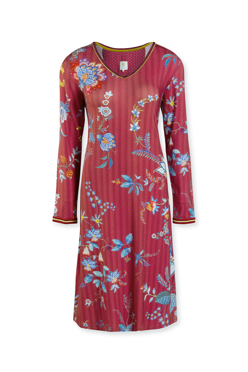 Color Relation Product Nightdress Flower Festival Red