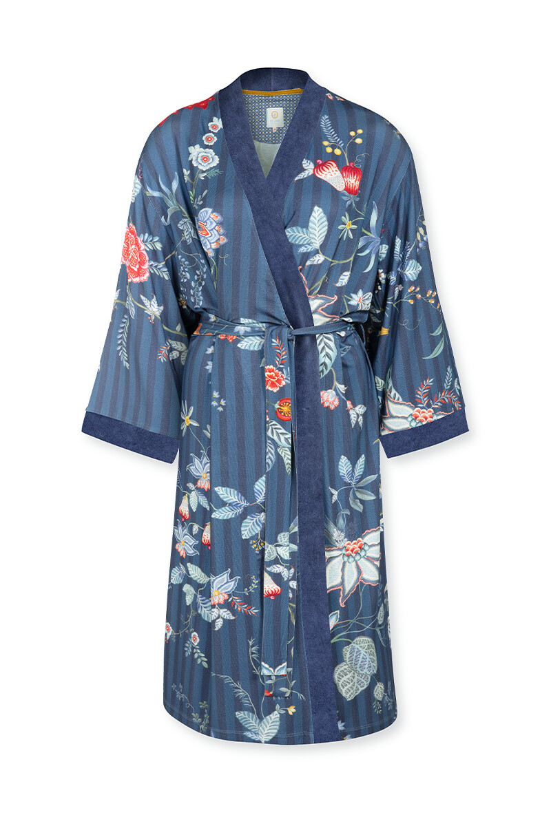 Color Relation Product Kimono Flower Festival Big Dunkelblau