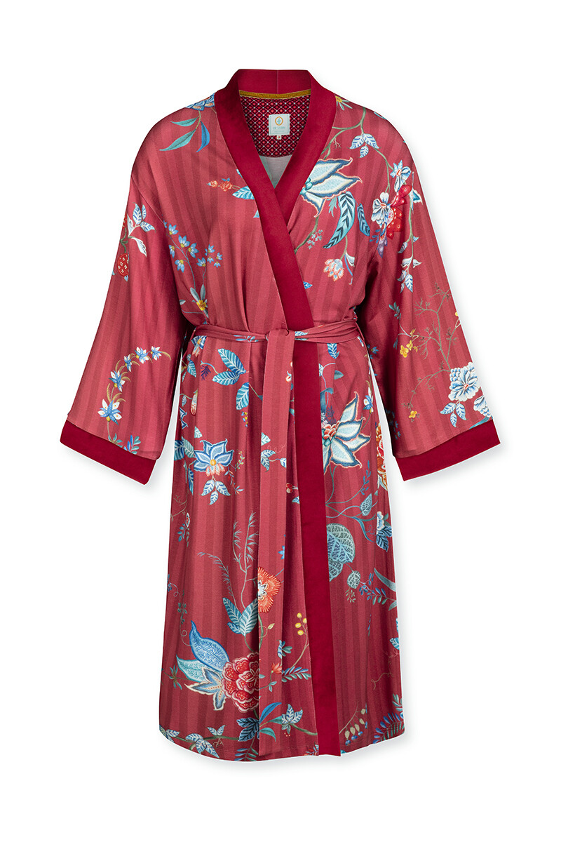 Color Relation Product Kimono Flower Festival Big Red