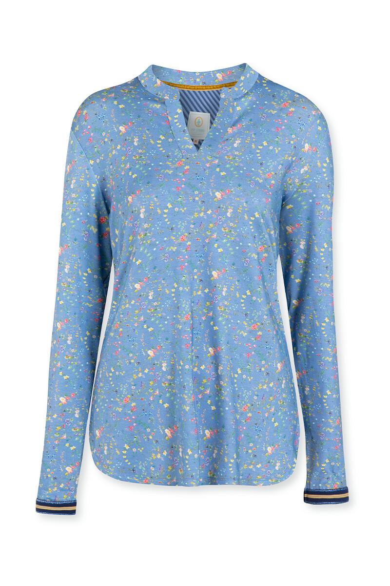 Color Relation Product Top Mit Lange Ärmeln Petites Fleurs Hellblau
