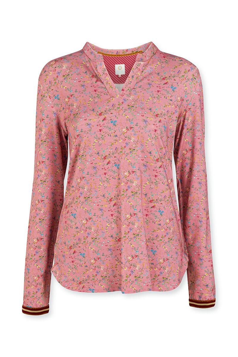 Color Relation Product Top Lange Mouw Petites Fleurs Roze