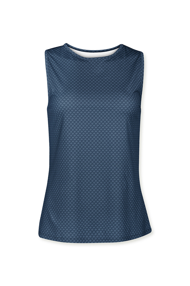 Color Relation Product Sport Top Lace Flower Blauw