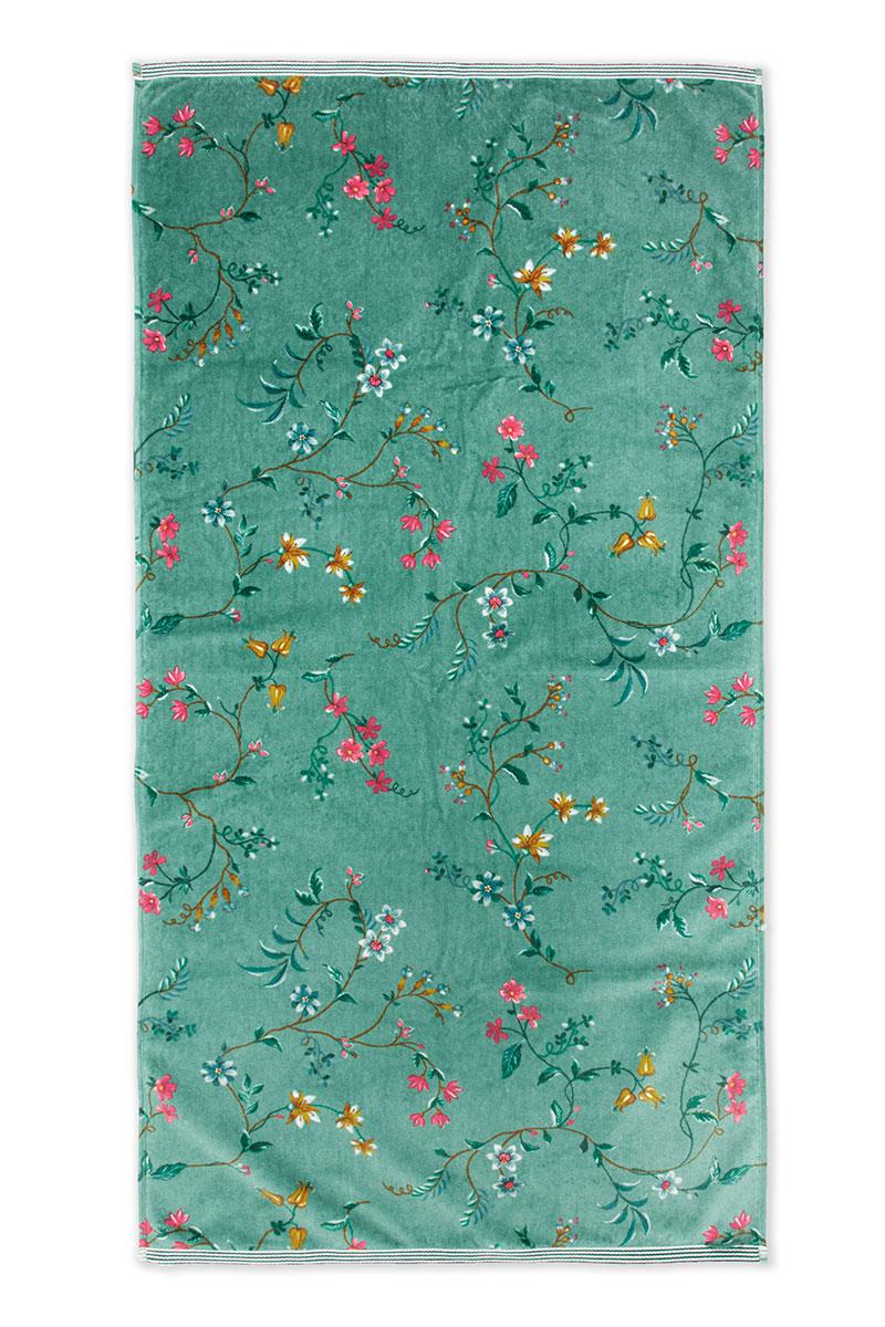 Color Relation Product Grote Handdoek Les Fleurs Groen 70x140 cm