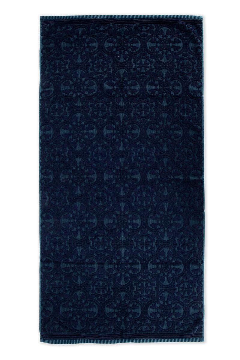 Color Relation Product XL Duschlaken Tile de Pip Dunkelblau 70x140 cm