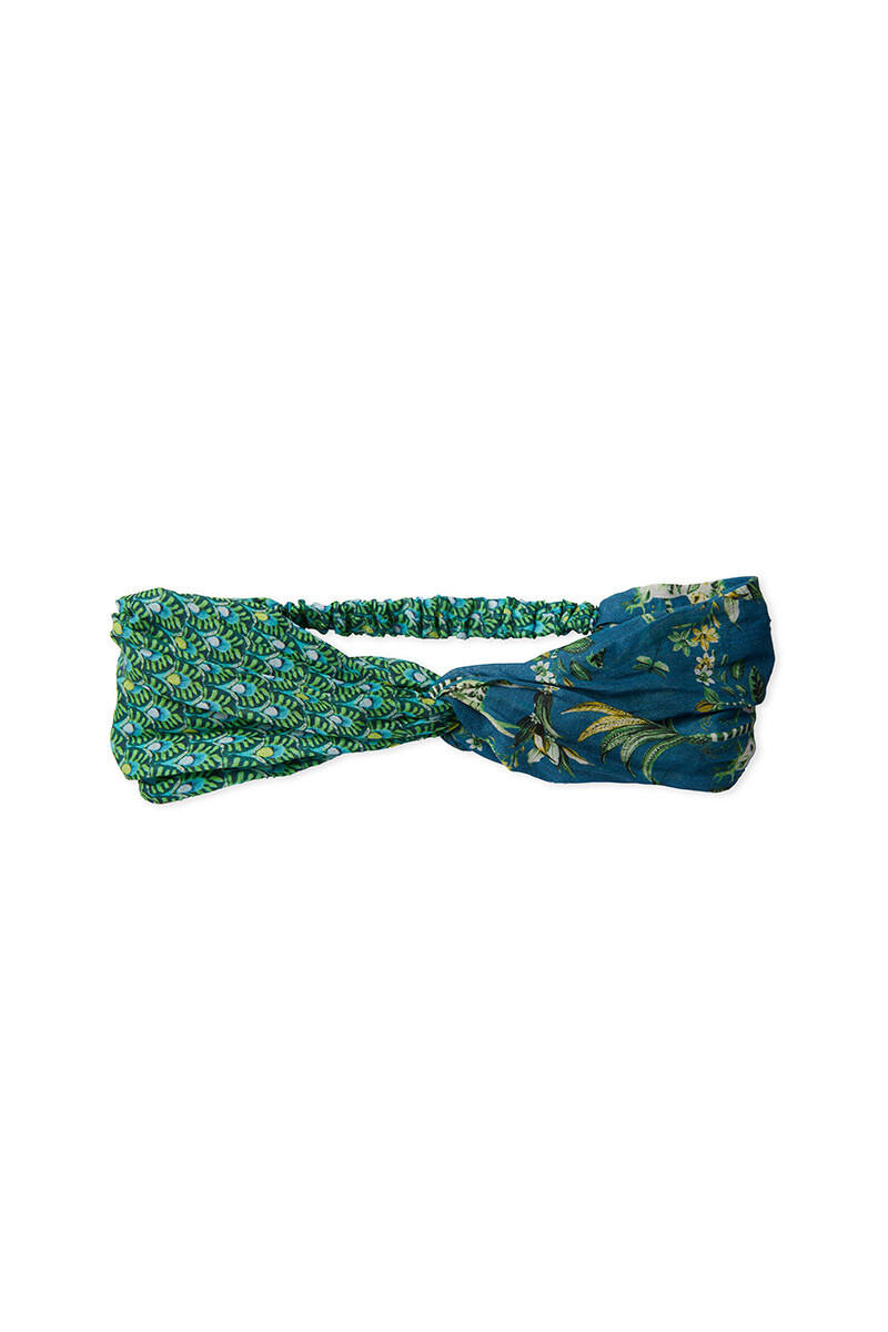 Color Relation Product Head Band Ajour Green/Tropic Twins Blue