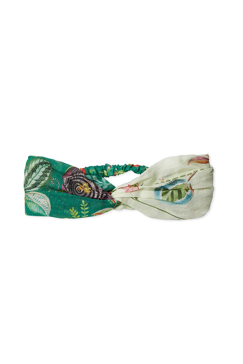 Color Relation Product Head Band Exotic Garden/High Beliefs Green