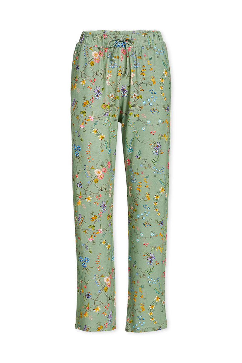Color Relation Product Trousers Long Petites Fleurs Green