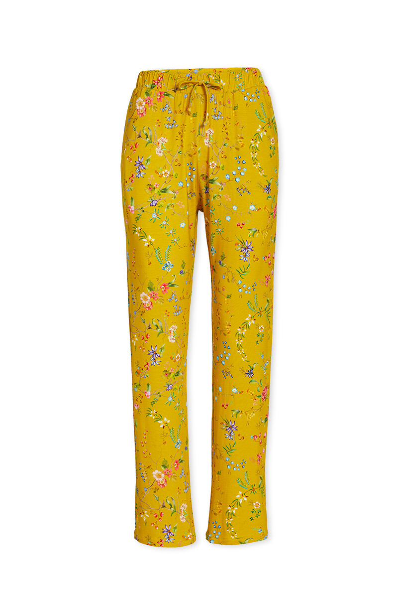 Color Relation Product Trousers Long Petites Fleurs Yellow