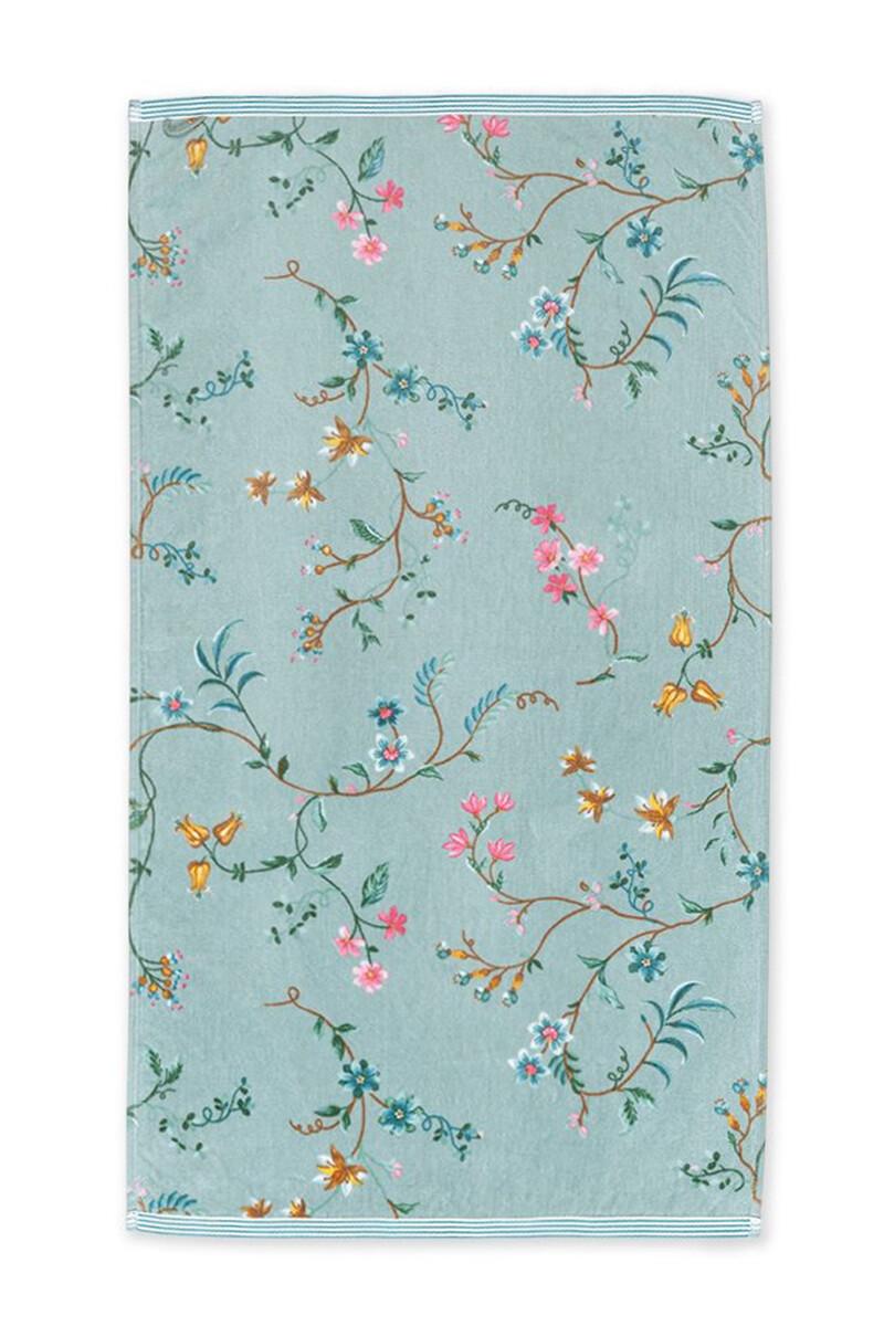 Color Relation Product Baddoek Les Fleurs Blauw 55x100 cm